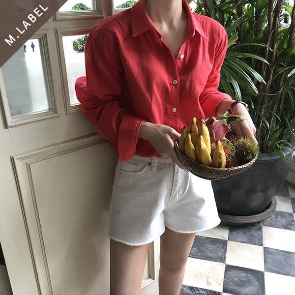 [M.LABEL] apple linen shirt (nb)